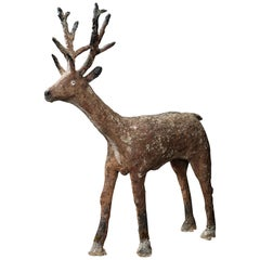 Life Sized Concrete Folk Art Deer
