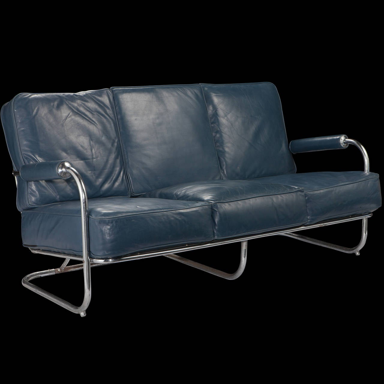 Blue leather sofa for sale for sale 2 seater blue for Blue sofas for sale
