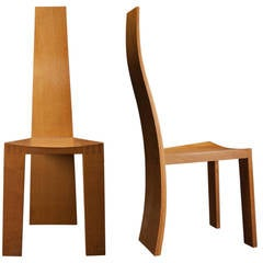 Pair of Modernist Chairs with Stool