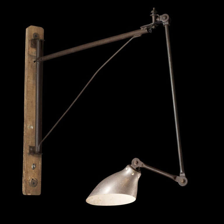 Wall Mount Task Lamp : Wall Mounted Task Light at 1stdibs