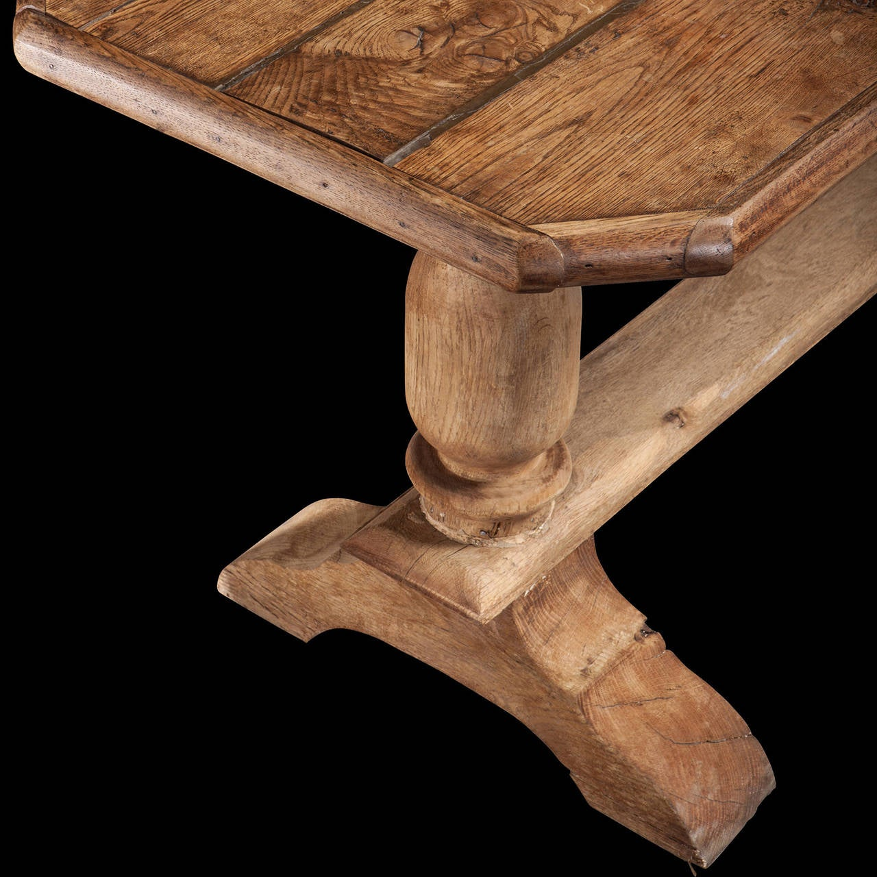 Oak Trestle Base Table at 1stdibs : TABLE3086l from www.1stdibs.com size 1280 x 1280 jpeg 196kB