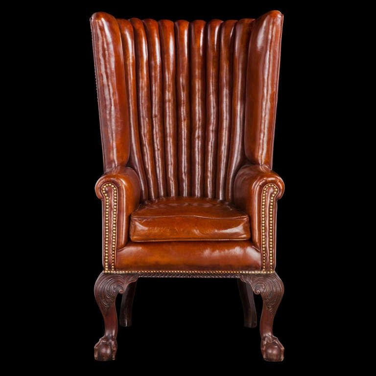 victorian leather channel back at 1stdibs