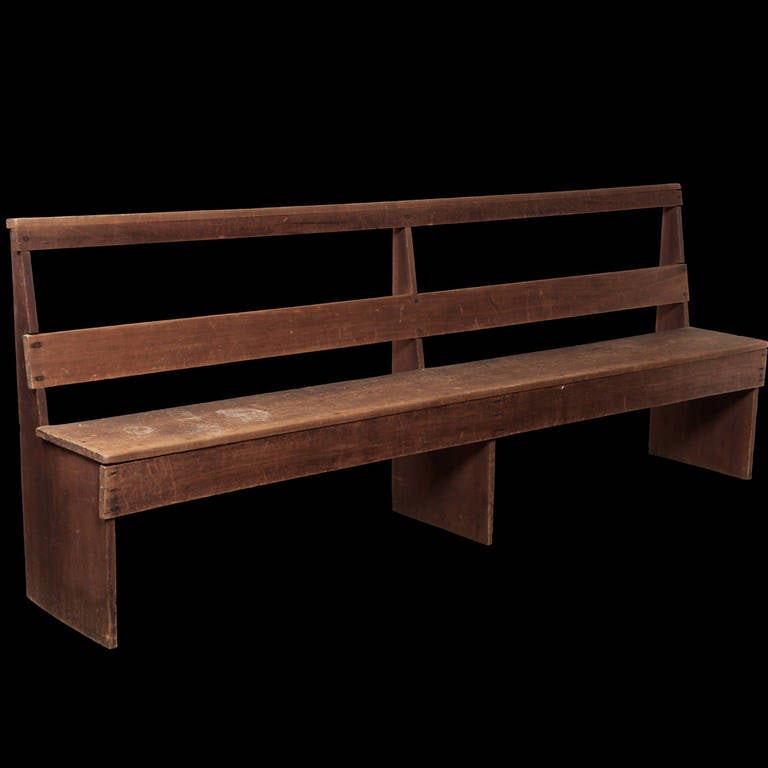 Primitive American Farm Bench at 1stdibs