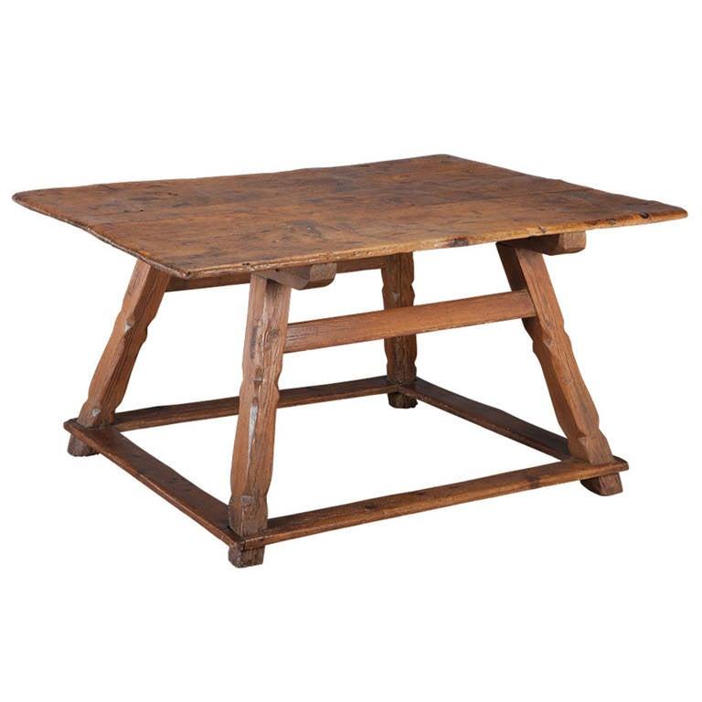 primitive center table at 1stdibs