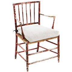 An Early 19th century Victorian Cottage Armchair