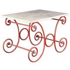 Marble Top Pastry Table