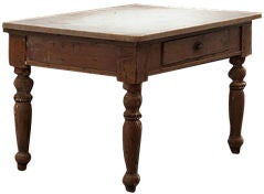 Oak Bakers Table with Marble top