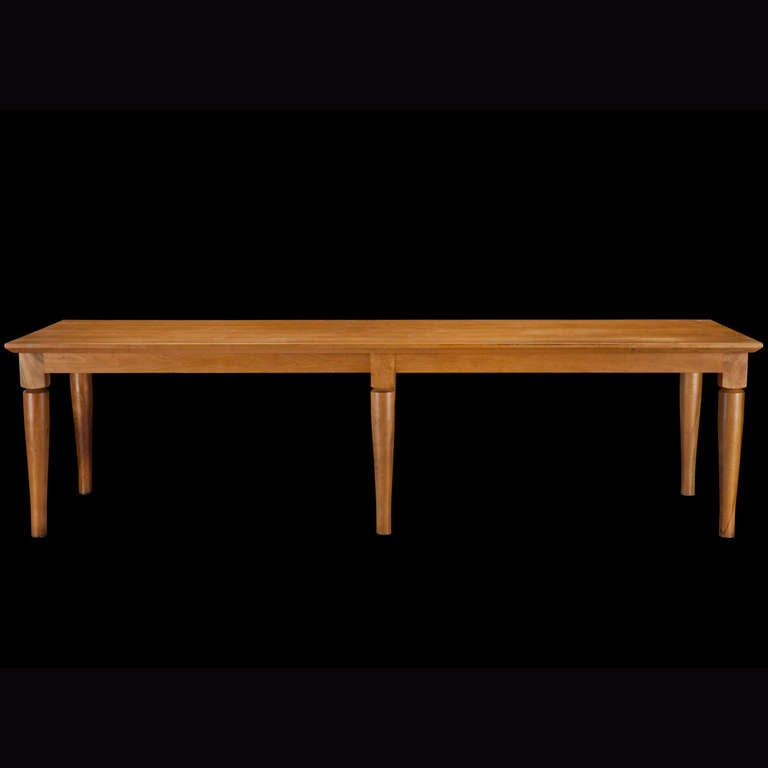 Italian Cherry Wood Dining Table At 1stdibs