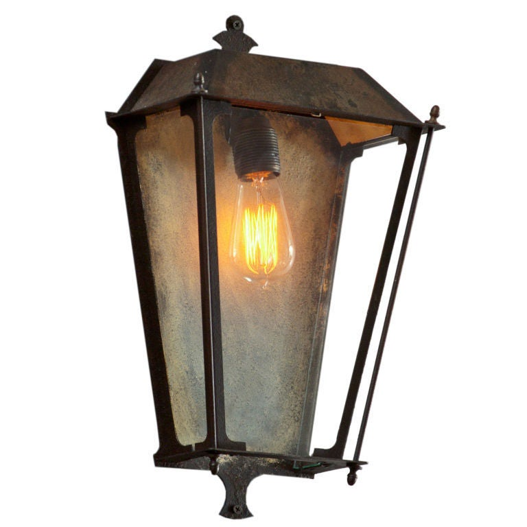 Metal Outdoor Wall Sconces : Outdoor metal sconce For Sale at 1stdibs