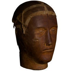 Wood Mannequin Haberdashery Head