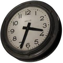 Double Faced Railroad Clock