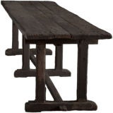 Primitive Long Wood Dining/Work Table