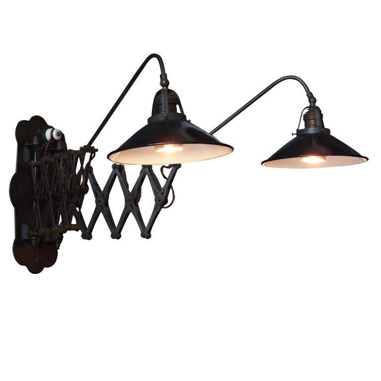 Industrial Scissor Wall Lights : Industrial Double Scissor Sconce at 1stdibs