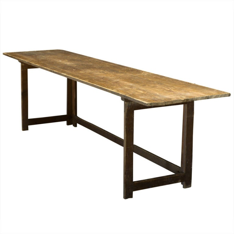 Long folding work table at 1stdibs for Furniture work table