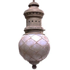 Oversized Street Lamp with Original Frosted Shade