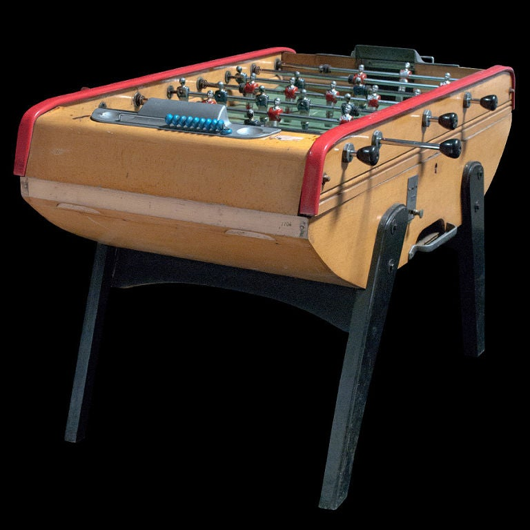 Italian Foosball Table In Excellent Working Order At 1stdibs
