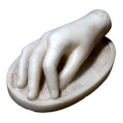 Delicately Carved Marble Hand