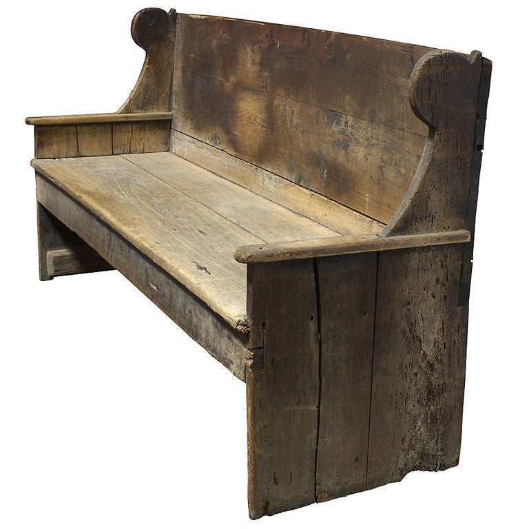 Primitive 18th Century Wood Bench At 1stdibs
