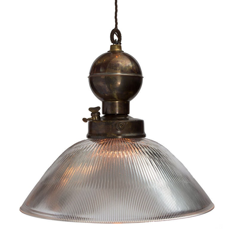 oversized industrial brass pendant at 1stdibs