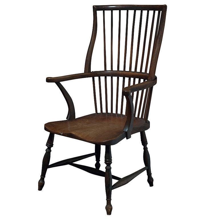 English Fan Back Windsor Chair At 1stdibs
