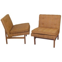 Pair of Armless Lounge Chairs by Milo Baughman