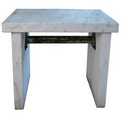 Bold Antique Marble Candy Makers Table