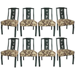 Set of Eight, 1940s Dining Chairs by James Mont