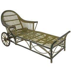 Antique Wicker Chaise Lounge