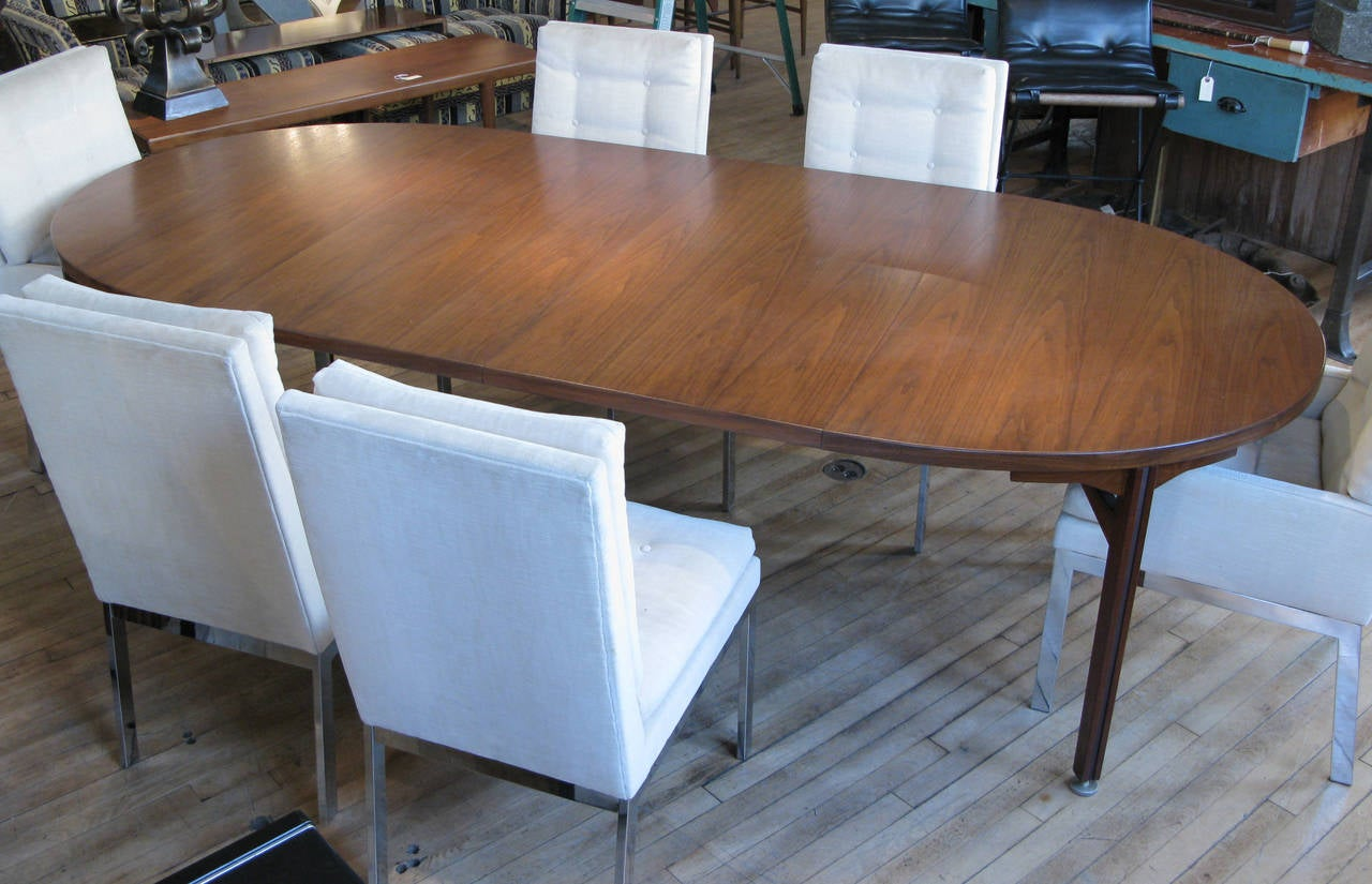 oval table with end extensions vintage oval walnut extension dining table by jens risom 7252