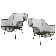 Pair of Vintage 1950s 'Sculptura' Garden Lounge Chairs by Russell Woodard