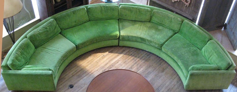 Semi Circular Curved Sectional Sofa by Milo Baughman 2