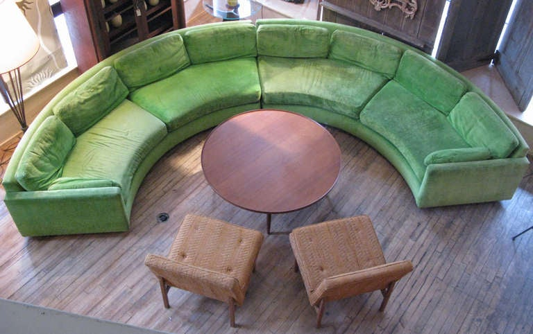 Semi Circular Curved Sectional Sofa by Milo Baughman 4
