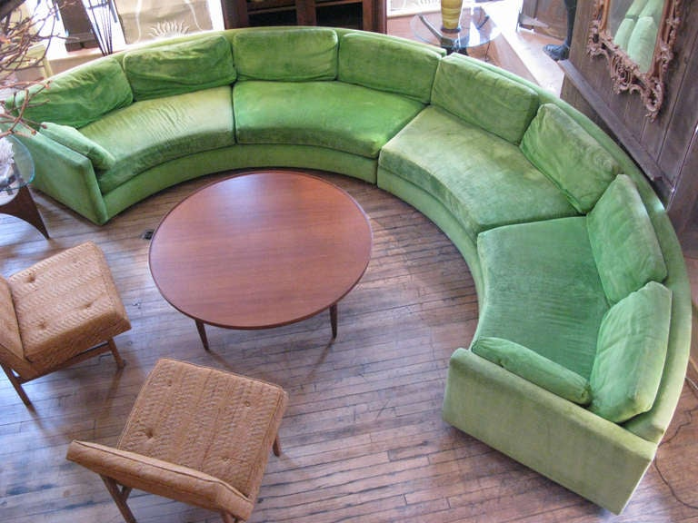 Semi Circular Curved Sectional Sofa by Milo Baughman 5