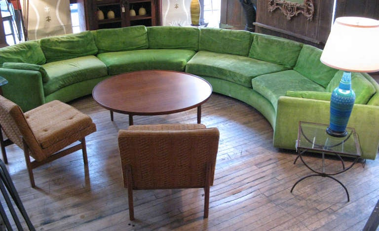 Semi Circular Curved Sectional Sofa by Milo Baughman 6