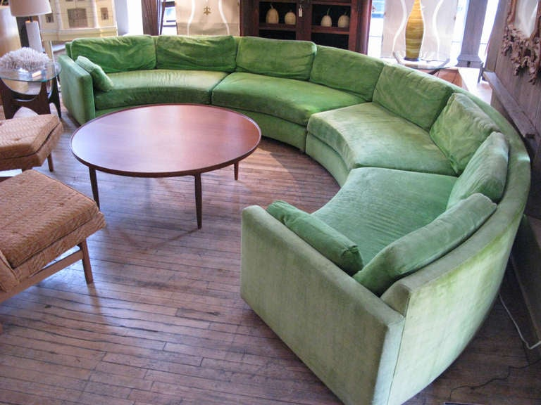 Semi Circular Curved Sectional Sofa by Milo Baughman 7