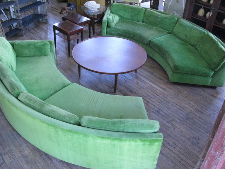 Semi Circular Curved Sectional Sofa by Milo Baughman 9