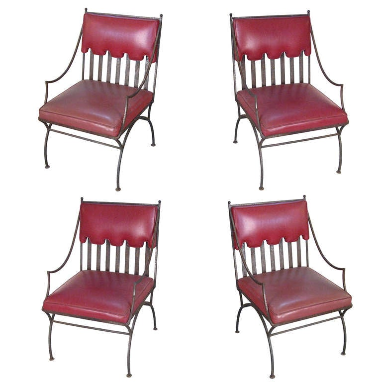 set of four 1940 39 s garden lounge chairs at 1stdibs. Black Bedroom Furniture Sets. Home Design Ideas