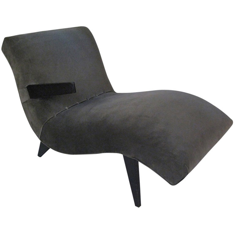 1950 39 s modern sculptural chaise lounge at 1stdibs