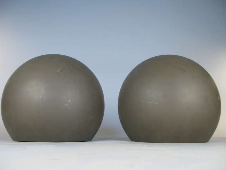 American Pair of Large Sphere Wall Sconces from Avery Fisher Hall For Sale