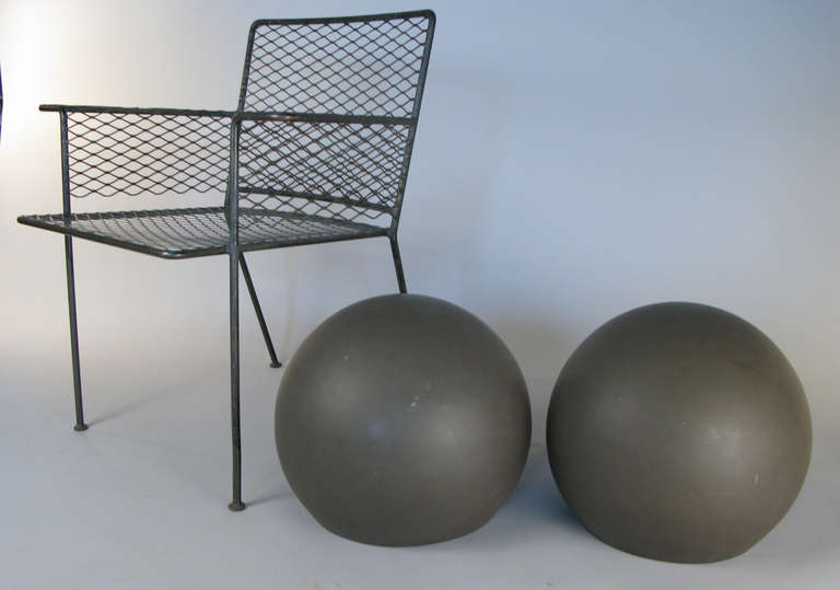 Mid-20th Century Pair of Large Sphere Wall Sconces from Avery Fisher Hall For Sale