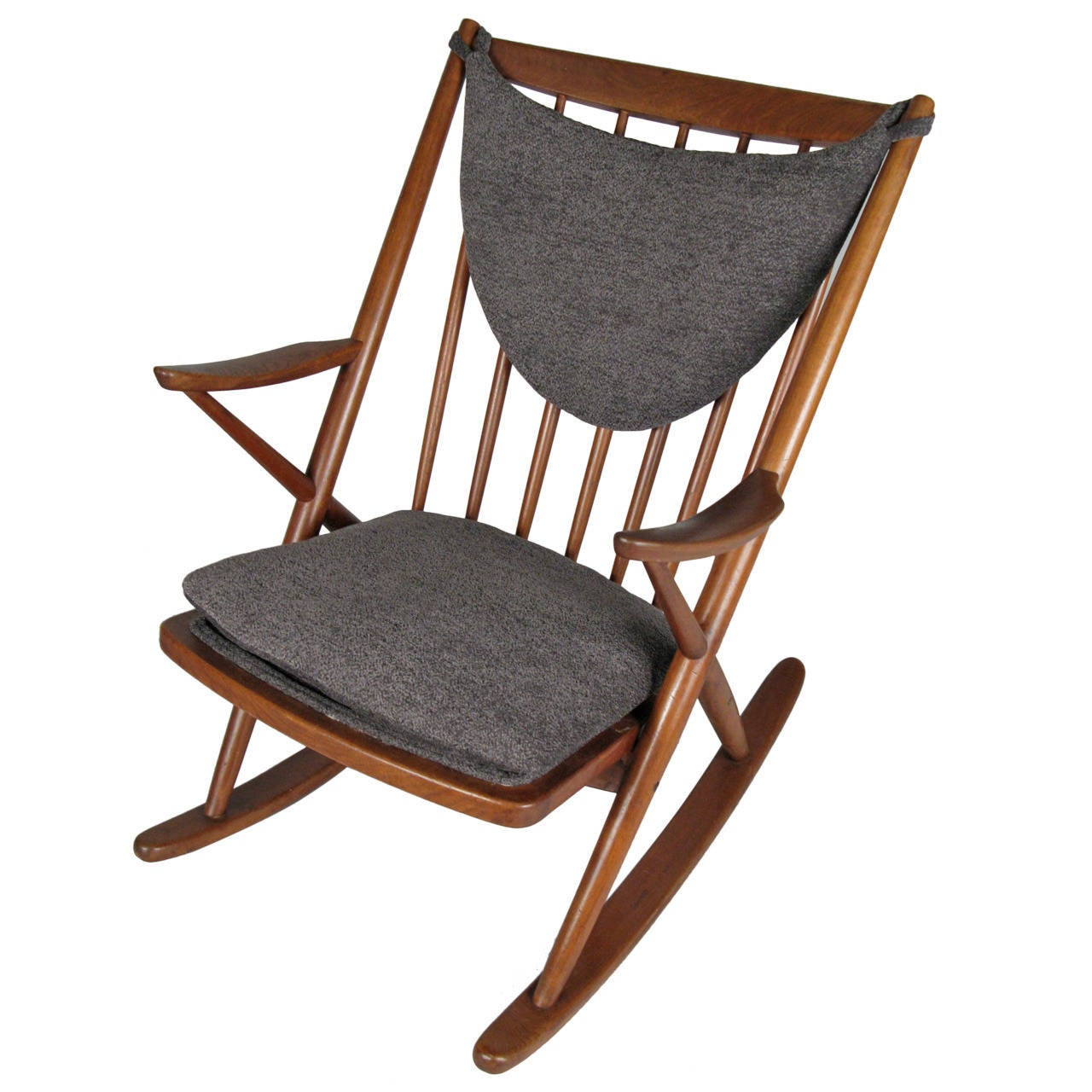 Frank reenskaug rocking chair - 1950s Danish Modern Teak Rocking Chair By Frank Reenskaug 1
