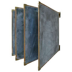 Set of Antique Slate & Bronze Chalkboards