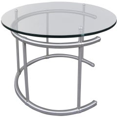 Rare Aluminum & Glass Table by Warren Mcarthur
