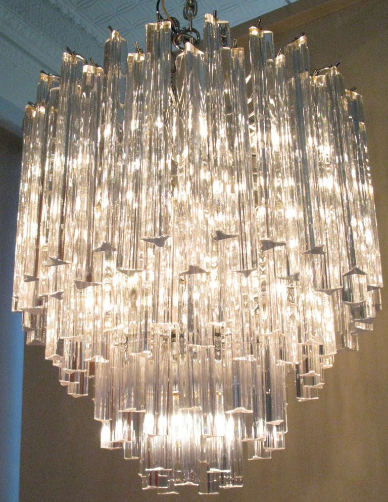 Elegant Italian Murano Gl Chandelier By Camer In Excellent Condition For Hudson Ny