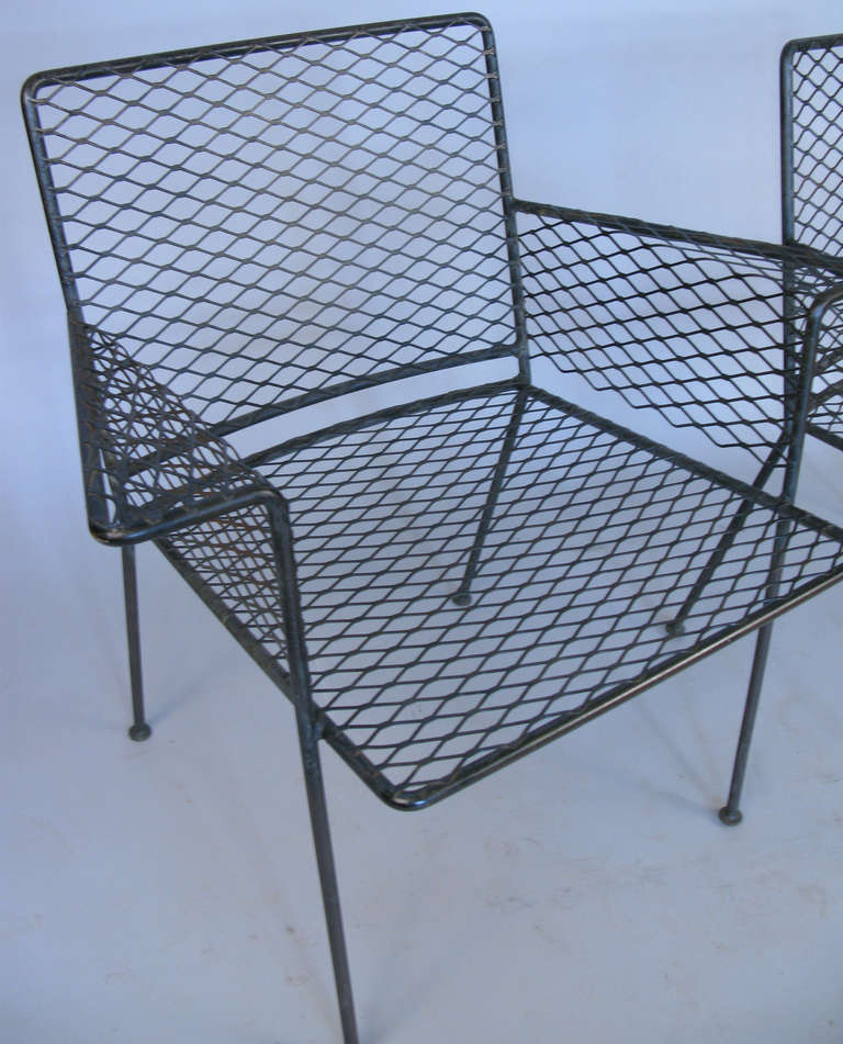 Pair Of Iron Garden Chairs By Van Keppel And Green At 1stdibs