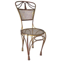 Vintage Italian Gilt Rope & Tassel Chair