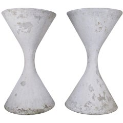 Matched Pair of Monumental Spindle Planters by Willy Guhl