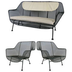 Set of Vintage Sculptura Lounge Chairs and Settee by Russell Woodard