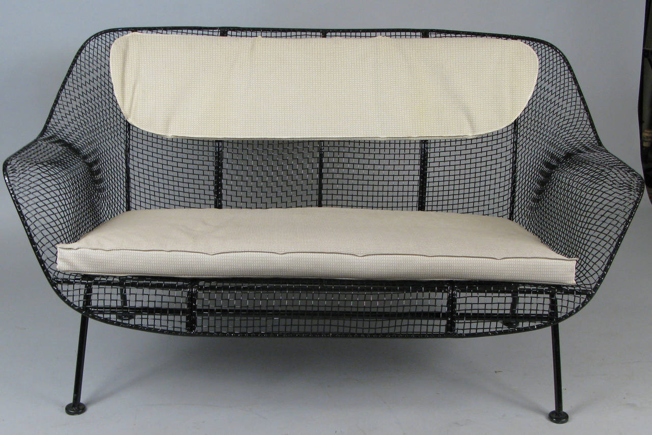 Vintage Wrought Iron Settee by Russell Woodard at 1stdibs