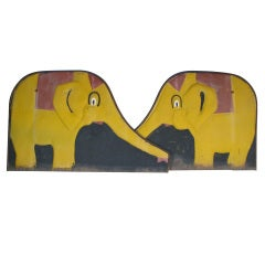 Pair of Large Vintage Elephants